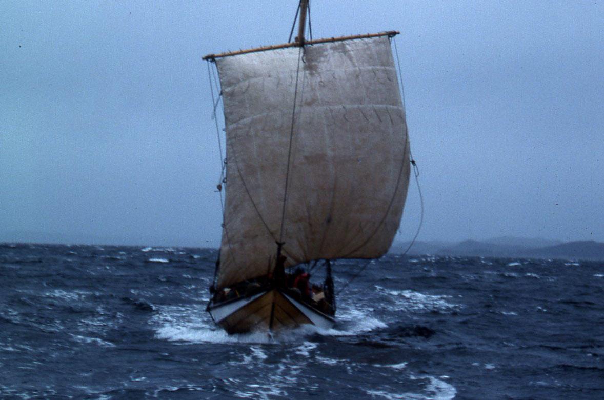 Åfjordsbåt. Torskegarnsbåt (fembøring), 40-48 ft.