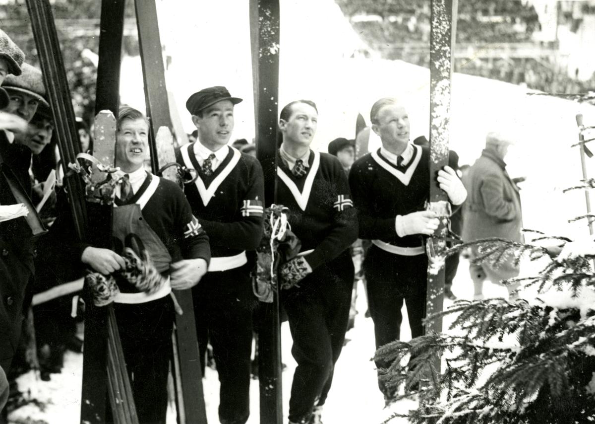 The Norwegian team in WC 1931