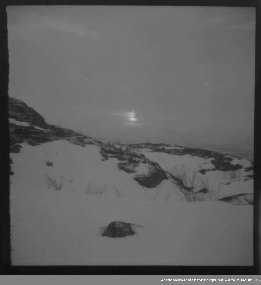 fjell, sol, snø, sne, Komsafjellet,