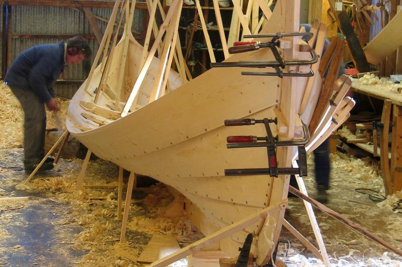 Firingen Balder under bygging, vinteren 2005