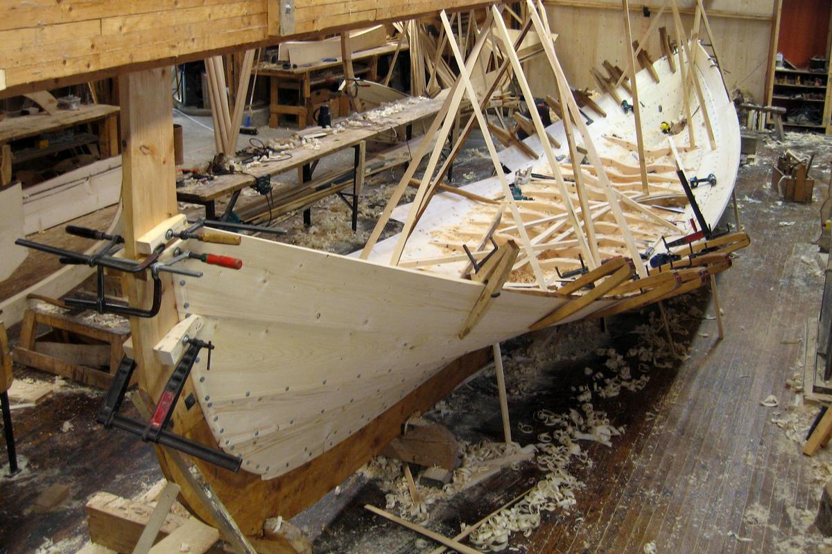 Bygging av Dragens Vinge, vinteren 2009