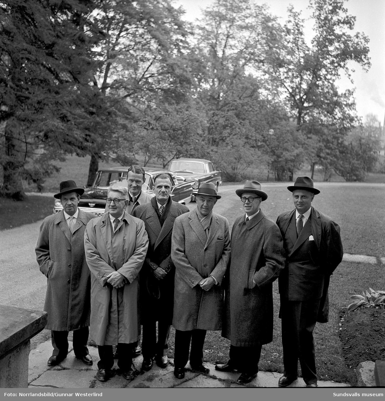 Amerikanskt besök vid SCA-arkivet, Merlo slott.