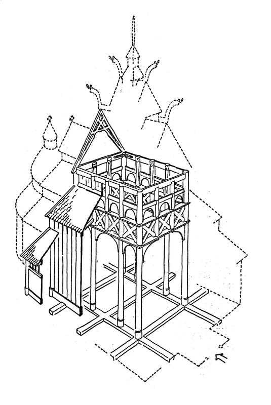 Tverrsnitt av Gol stavkirke. Tegning av arkitekt Arne Berg. (Foto/Photo)