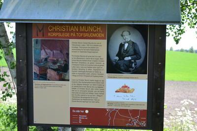 Munch-stien, tavla ved Tofsrud.