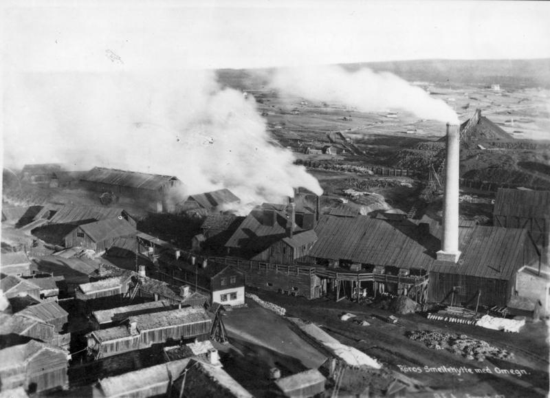 Smeltehytta på Røros 1907