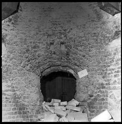 Skader på murverk i kalkovn.