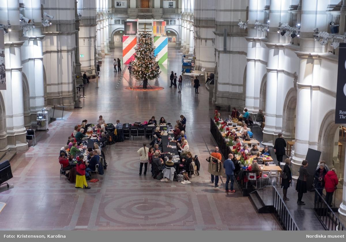 Stickcafé på Nordiska museet, inspirationsbilder till kommunikation