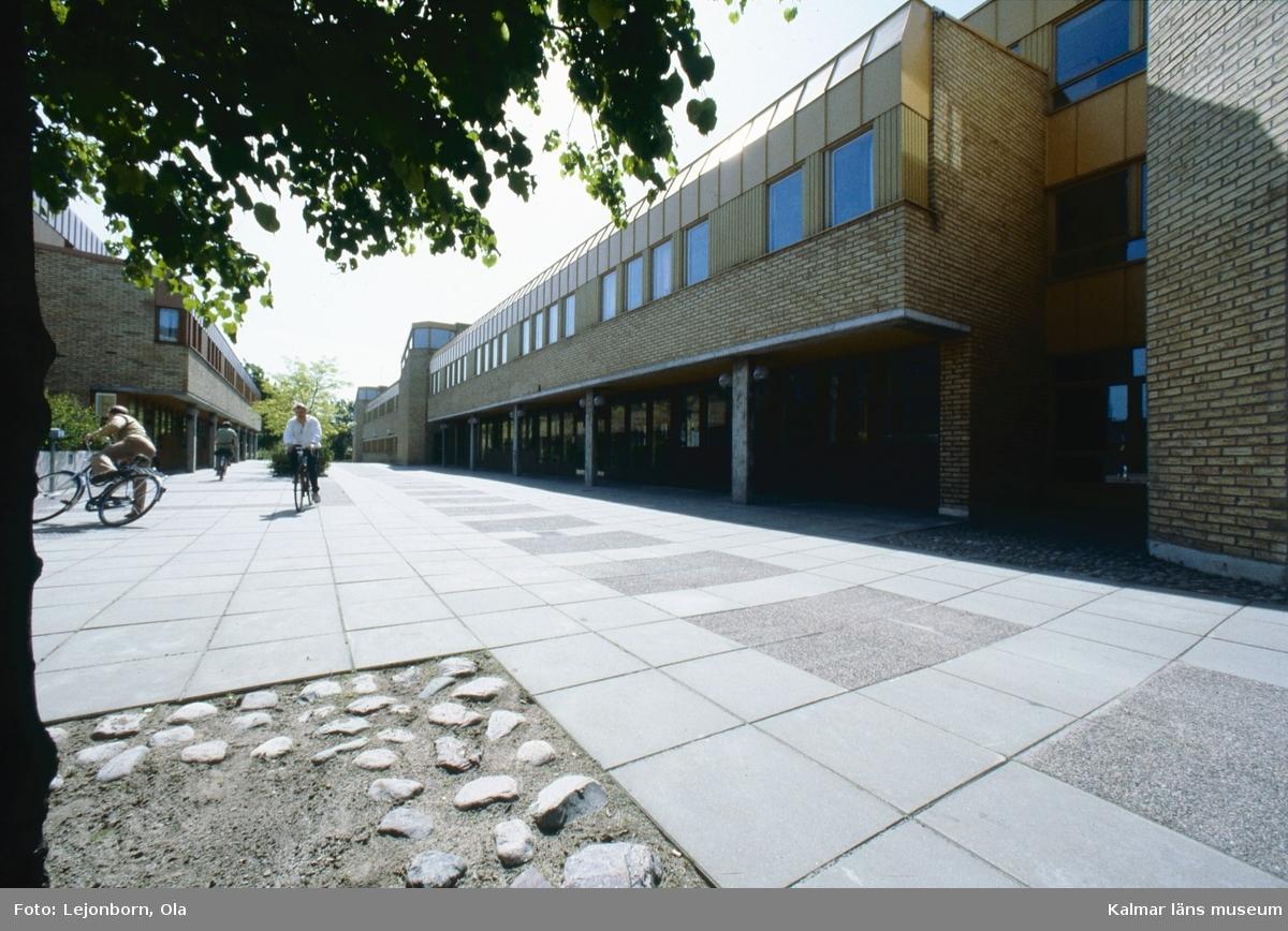Innergården på Länsstyrelsens och polishusets kvarter.