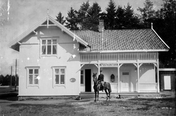Postkontoret på Gardermoen 1910