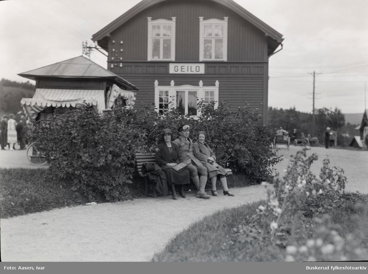 Geilo  jernbanestasjon. .Bergensbanen