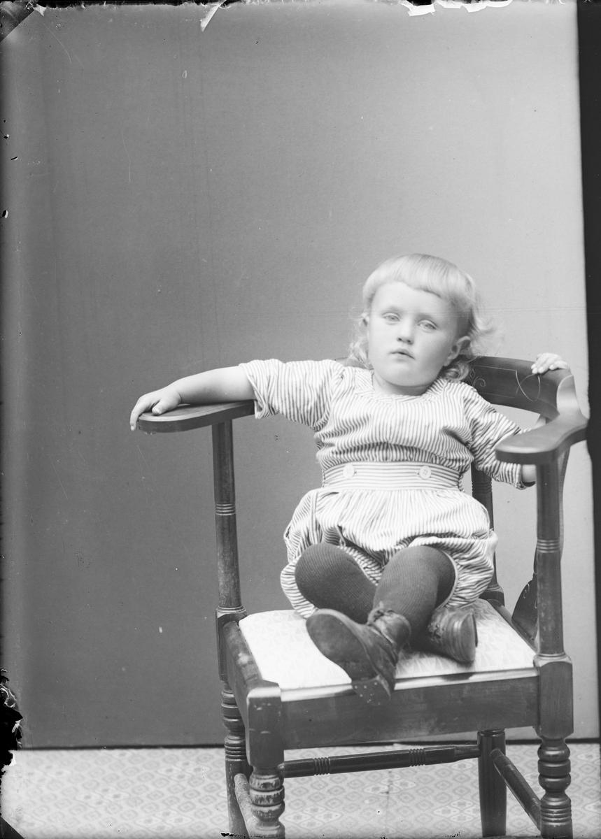 Ateljéporträtt - litet barn, Alunda. Uppland