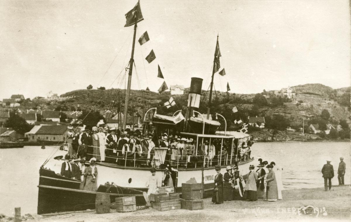 transport, båt, Topdal, rutebåt, Kristiansand