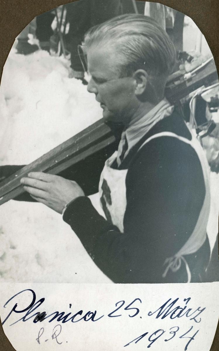 Athlete Sigmund Ruud at Planica