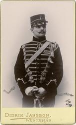 Porträtt av Carl Ludvig Holger Rosencrantz, löjtnant vid Kro