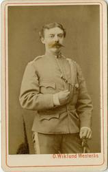 Porträtt av löjtnant Rosenberg.