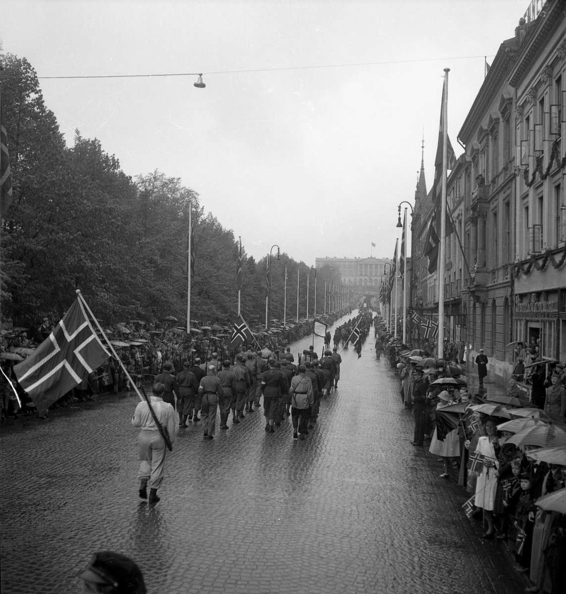 Norge fritt den 7 maj 1945.
