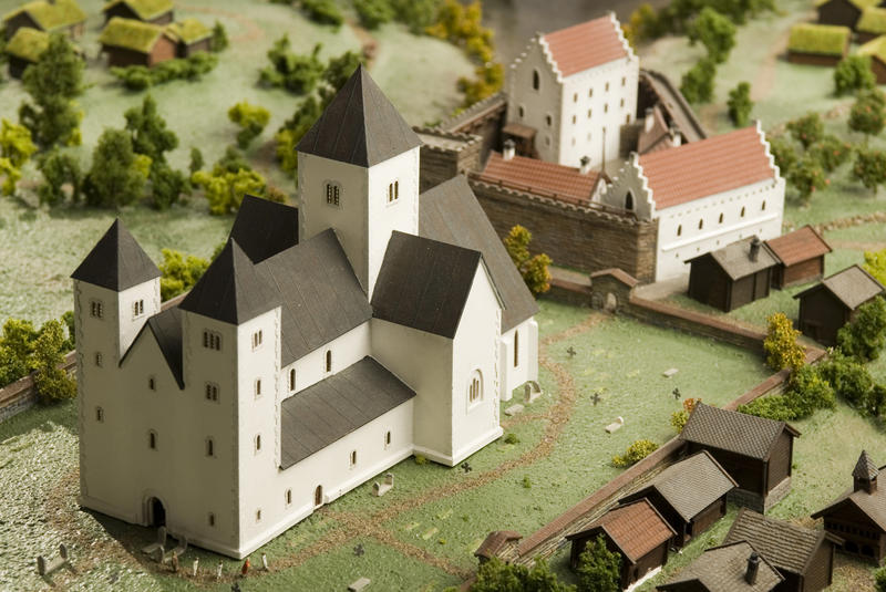 What did the Medieval town look like?