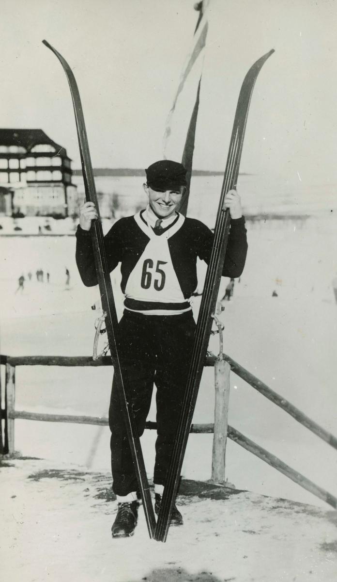 Norwegian athlete in Lake Placid