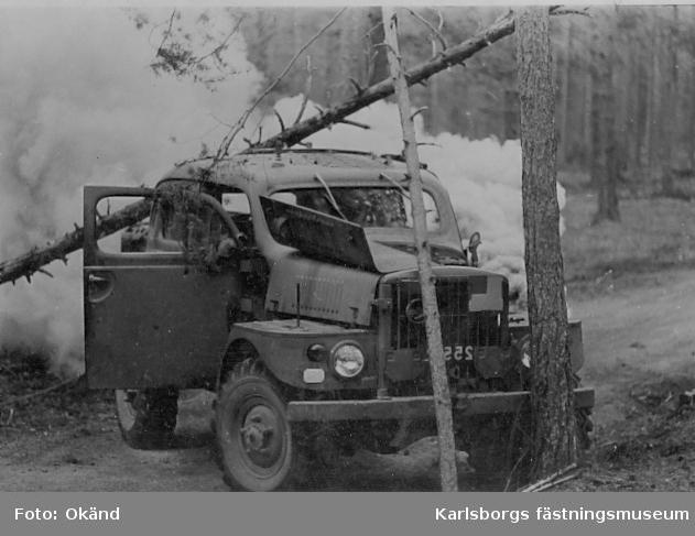 Bataljonsövning på S2, troligen i mitten av 70-talet.