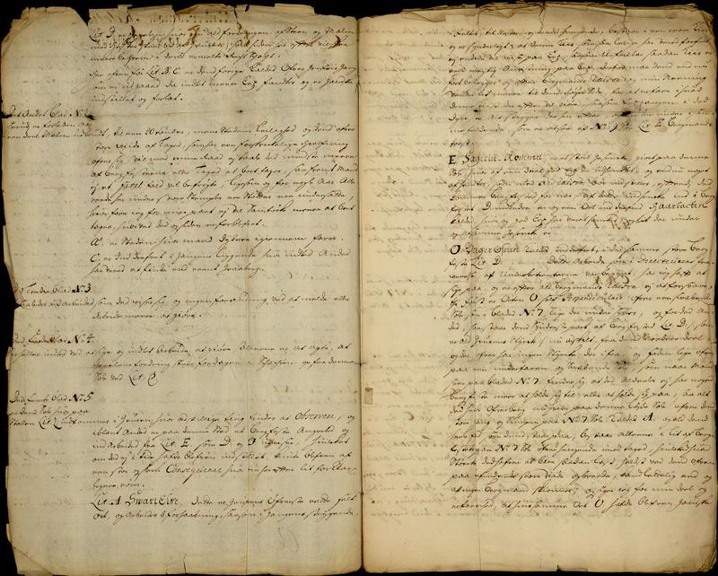 "Del av en ""Afsikt og Relation ang. Löckens Werck"" fra 2. juni 1703. (Foto/Photo)"