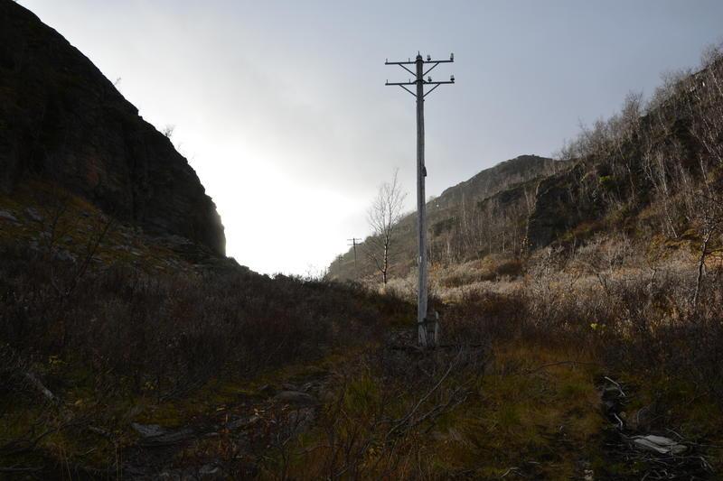 Linjekurs. Mattisdalen stolperekke (Foto/Photo)