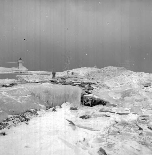 Hamnen i Gränna år 1963