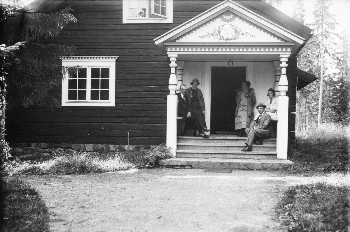 Från vänster: Erhard, Elin, Astrid och Emil Nilsson samt Anna Andersson.