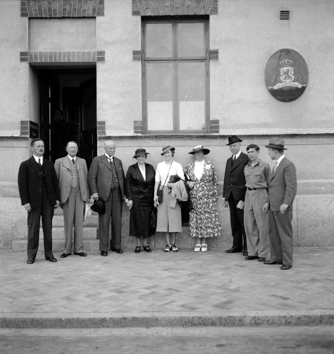Konsul Ericsson. Nederländska ministerbesöket. 1936