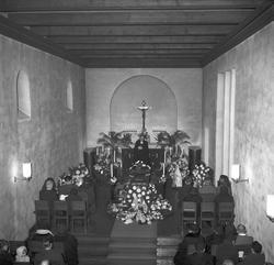 Rektor E. Kallbergs begravning. November 1953.