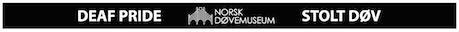 Silikonarmbånd med tekst: STOLTDØV/DEAFPRIDE. kr: 49,-