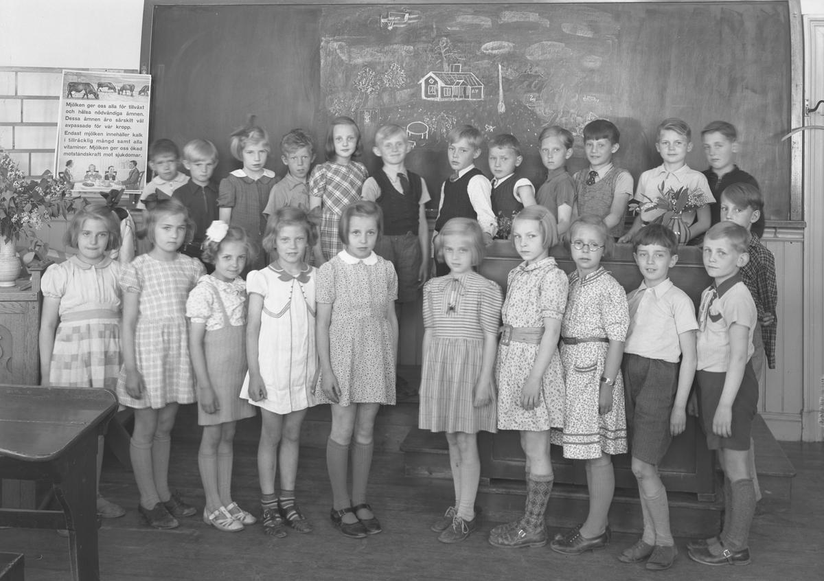 Okänd skolklass på Norra Skolan