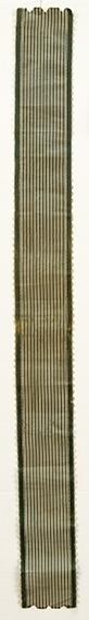 Stripet, bredt hårbånd i silkerips