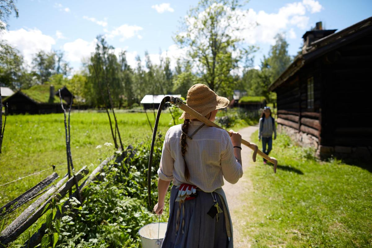 Sommer i Friluftsmuseet på Norsk Folkemuseum (Foto/Photo)