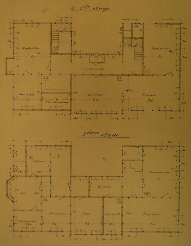 Plan 1. og 2. etasje