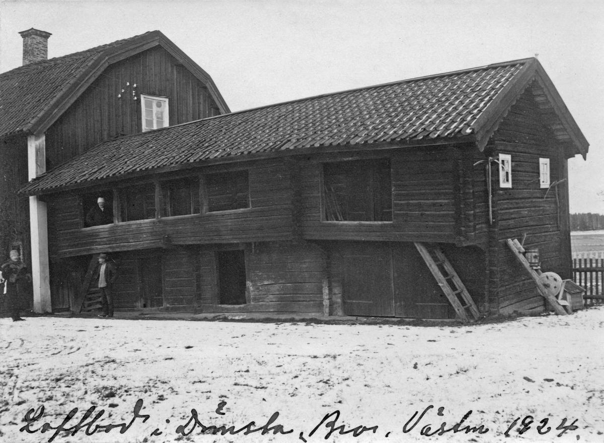 Loftboden i Dömsta, 1924. (Nu vid Gammelgården)