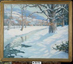 Winter in Woodstock [Oljemålning]