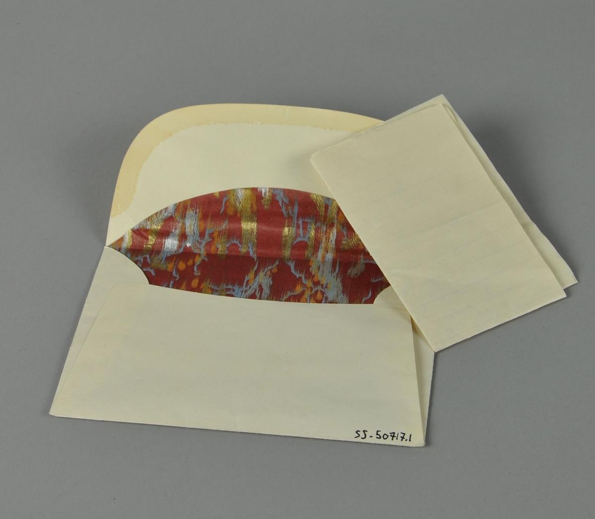 Håndskrevet brev i konvolutt, i forbindelse med I.O.G.T.