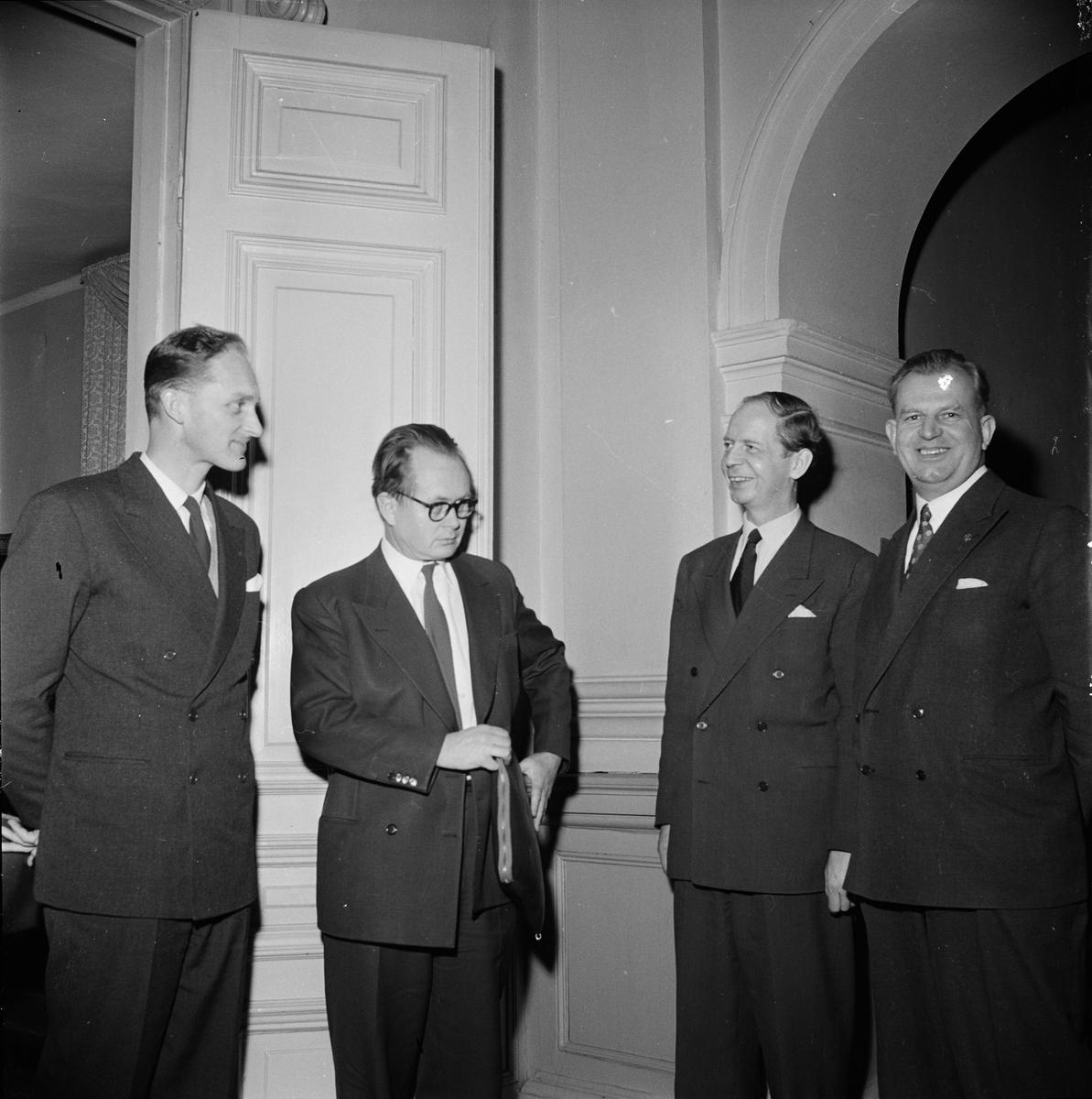 """Studenternas kursverksamhet - """"Nordiskt möte på Östgöta nation"""", Uppsala februari 1956"""