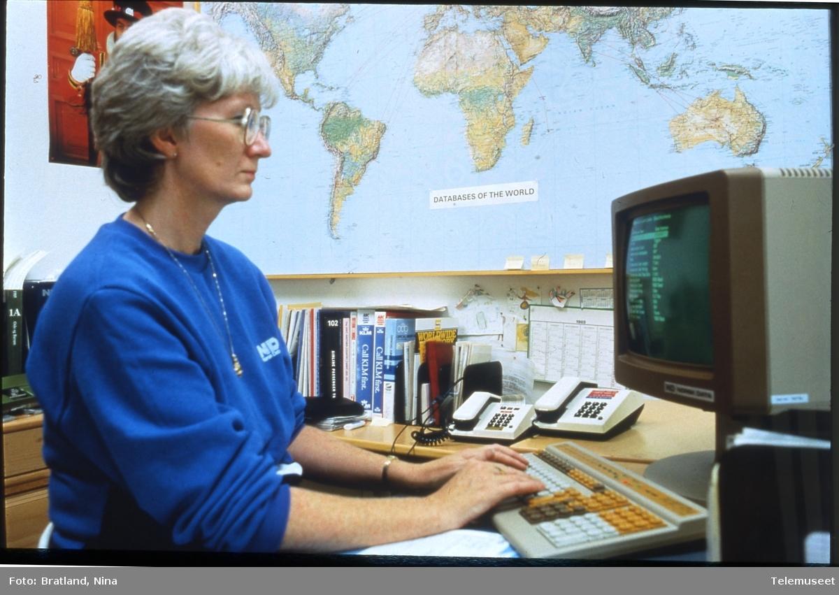 Arbeidsplass kontormiljø Norsk Data