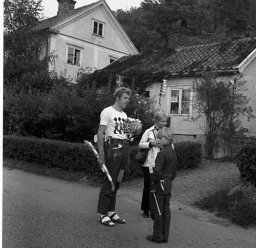 """Inspelning av adventskalendern """"Herkules Jonssons storverk"""" år 1969"""