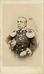Porträtt av militärläkare Karl Sallmén.