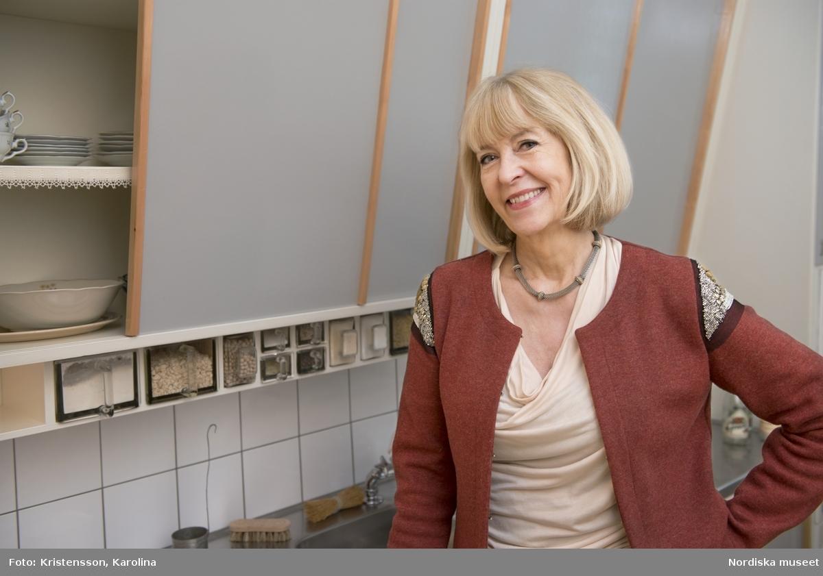 Porträtt Christina Mattson, styresman NM i folkhemslägenhetens kök