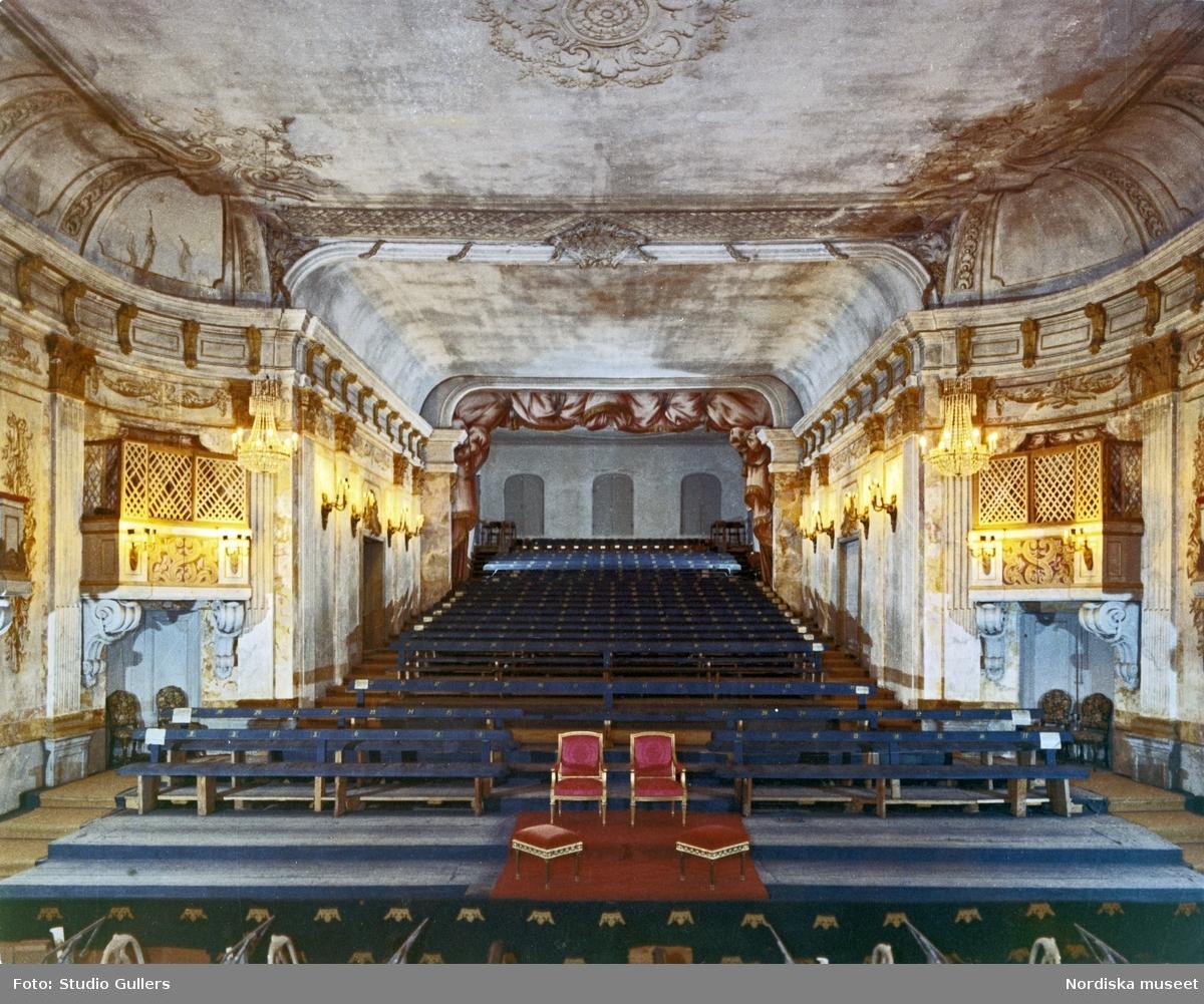 Drottningholms slottsteater, interiör.