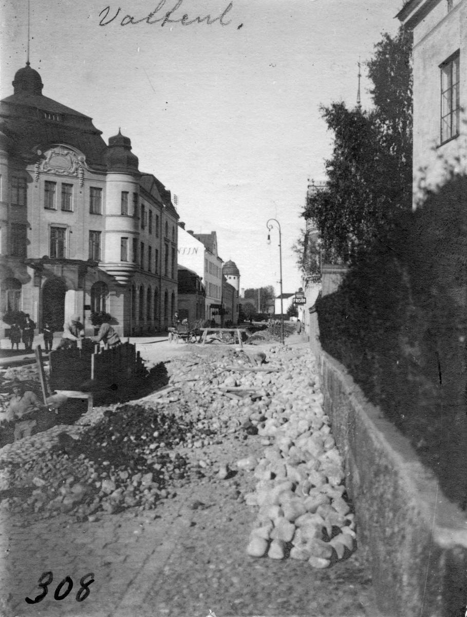 Läggande av vattenledning, början av 1900-tal.