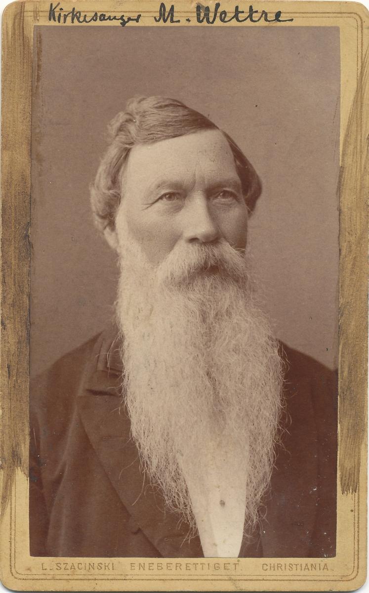 Portrett av Martin Gulbrandsen Wettre, førskolelærer og kirkesanger i Asker.