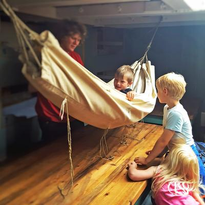 Barnehage om bord på Svanen.