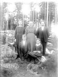 """Familjen Johanson """"med gärdesgården bakom"""", Grinda, Torstuna"""