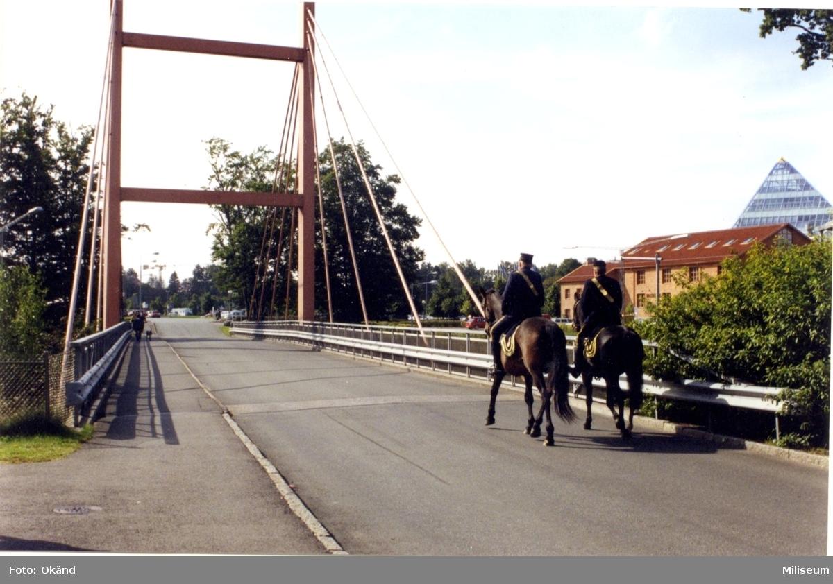 Frivilligförsvarets dag. Ryttare på bron, A 6.