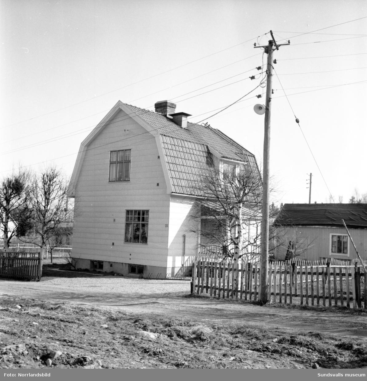 Numera rivet bostadshus vid Linneagatan 11 i västra Skönsberg. Tidigare kommunalkamrer Berjes gård.