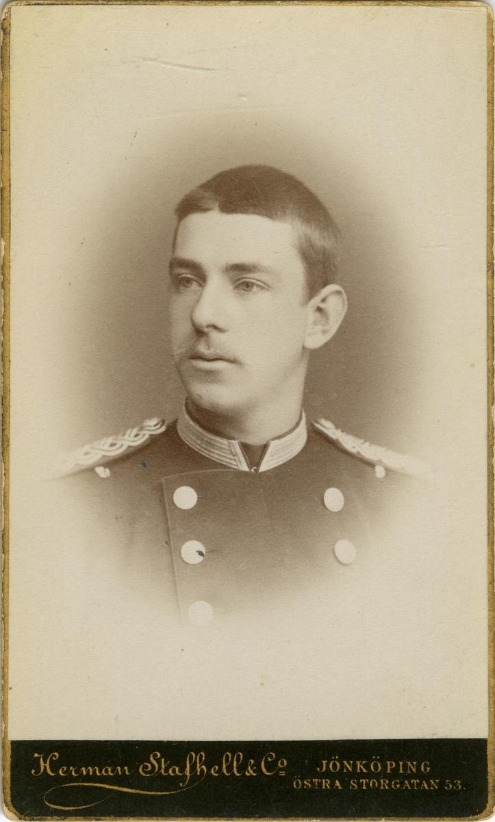 Porträtt av Claes Gustaf von Feilitzen, officer vid Livgrenadjärregemente.